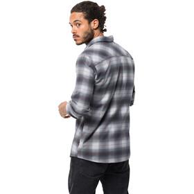 Jack Wolfskin Light Valley T-shirt manches longues Homme, ebony checks